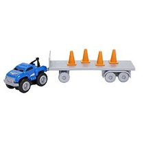 Max Tow Truck Mini Camiones Remolque And Go Packs Grúa Azul