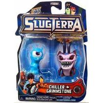 Slugterra Bajoterra Babosas Hielo Chiller + Grimmstone