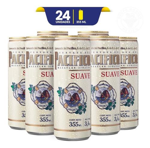 Cerveza Pacifico Suave 24 Latas De 355ml C/u
