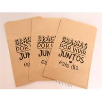 08e8fd641 25 Bolsas Papel Kraft Diseños Recuerdo Boda Mesa Dulces en venta en ...