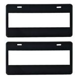 Par Porta Placas Negro Liso Personalizable Plástico