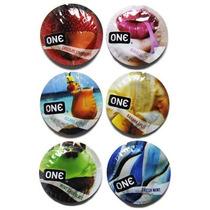 12 (doce) Condones One Flavor Waves Preservativos
