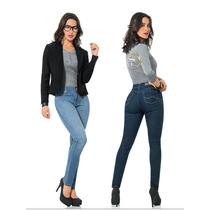 * Scandia Jeans Mezclilla Dama Slim Entubado Levanta Pompas