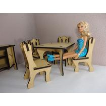 Kit De 31 Muebles Para Barbie, Hechos En Madera Mdf