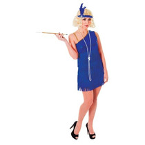 Flapper Costume - Señoras Azul 1920's Del Gángster Moll