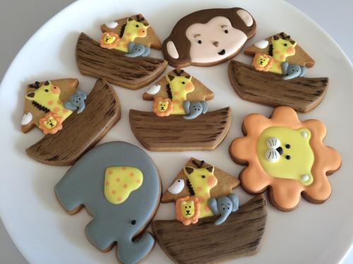 Galletas Decoradas Infantiles Arca Noe Safari Baby Shower