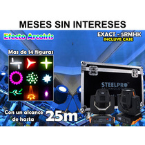 Steelpro 2 Cabezas Móviles Beam 5r Con Case,200w,gobos,rgbw.