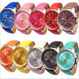 Lote De 10 Reloj Relojes Geneva Mayoreo Envio Gratis