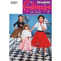 Patrón De Costura Simplicity 5401 Disfraces De Chicas Infant