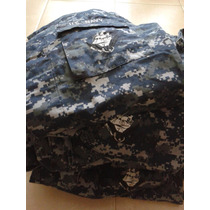 Uniforme Us Navy Pixel Azul 100% Autentico Parches Y Bordado
