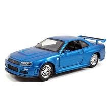 Fast And Furious Jada Nissan Skyline Gt R R34 2002 Azul 1:32