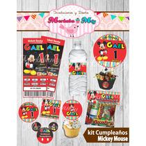 Invitacion Cumpleaños Mickey Mouse Kit Imprimelo Tú!!