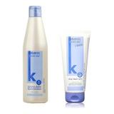 Salerm ® Keratin Shot Shampoo 500ml Tratamiento Hidratante Cabello Con Efecto Alisado + Deep Impact 200ml Antifrizz