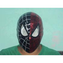 Marvel Mascara Spiderman Hombre Araña Negro Y Rojo P/adulto