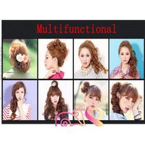Liga Peinado Hermoso Facil Rapido Cabello Extension Fibra