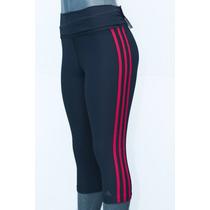 Capri Adidas 3/4 Lycra De Dama Para El Gym, Correr Talla Xs