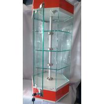 Aparador Hexegonal De Mostrador , Exhibidor Vitrinas Cristal