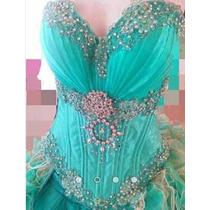 Vestido De Xv Años Unitalla Color Verde Menta En Venta En
