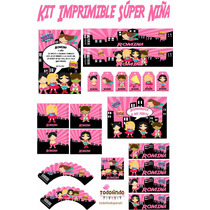 Kit Imprimible Personalizado Super Girl Super Niña Avengers