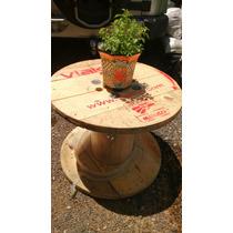Mesas De Jardín Madera Reciclada De Paletsmx Com Carretes