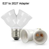 Convertidor Divisor Socket E27 2 En 1 Foco Led Fotografía