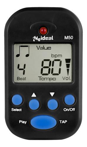 Metrónomo Digital M50 Profesional Con Pantalla Lcd Y Clip