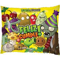 Globo Plantas Vs Zombies Paq 6 Pzas Medida 22 Pulgadas Helio