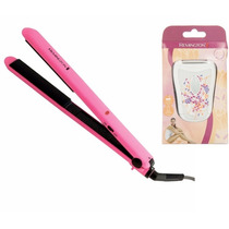 Kit Plancha De Cerámica Color Rosa Y Rasuradora Remington