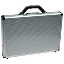 Portafolio De Aluminio Con Puntos Ejecutivo