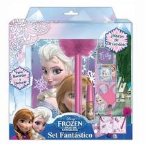 Fiesta Frozen Set De Diario Con Estampas Y Sellos