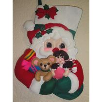 Bota Fieltro Navideña Santa Claus