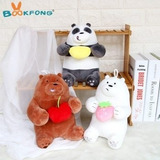 Set Escandalosos Peluche We Bare Bears Pack 22cm