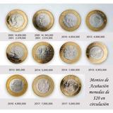 Coleccion De 13 Monedas De 20 Pesos Envio Incluido Zacatecas