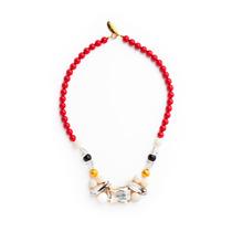 Collar Coralillo Swarovski Crystals.