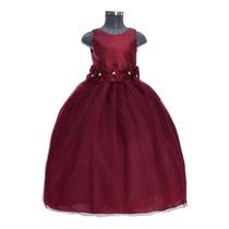 Busca Vestido De Fiesta O Presentacion Para Nina Color Vino