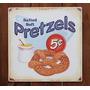 Pretzels 5c  Cartel Anuncio Lamina Poster Letrero Retro