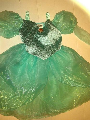 Vestido Disfraz Halloween Ariel La Sirenita Disney Parks T6