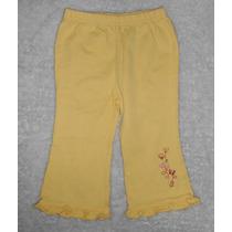 Simply Basic! Pantalón Amarillo Flores Bordadas, 6-9 Meses