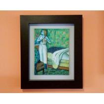 Cuadro Al Óleo Mujer Peinándose De Edgar Degas