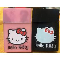 Cigarrera De Silicon Hello Kitty Negro Y Rosa