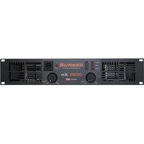 Amplificador De Poder Bunker Mx-2600 (1300 Watts Rms X 2)