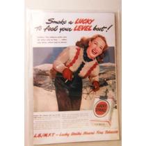 Iman Refrigerador Cigarro Lucky Strike Woman Vintage Retro