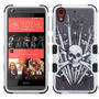 Funda Protector Htc 626 Triple Layer Blanco / Calavera