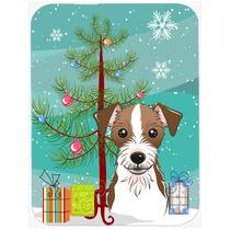 Árbol De Navidad Y Jack Russell Terrier De Cristal Tabla De