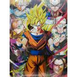 Dragon Ball Póster 3d Lenticular Goku Triple Transformación