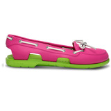 Zapato Crocs Dama Beach Line Boat Shoe Fuchsia