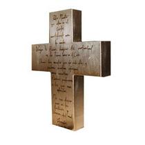 Cruz Con El Padre Nuestro Cubierta De Hoja De Oro O Plata