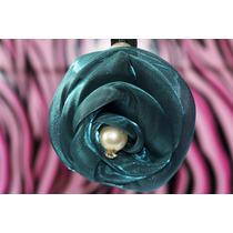 Prendedor Cabello Forma Flor Azul Pre08