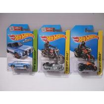 Hotwheels Caddy´s, Kombi, Motos Harley Y Bmw Lote 6 Piezas