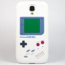 Funda Gameboy 3d Blanca Negra Para Samsung Galaxy S4